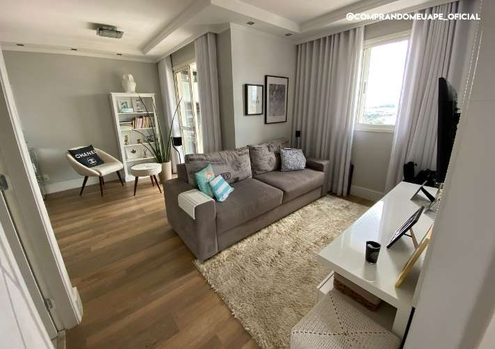 sala ampliada do meu apartamento bruna dalcin